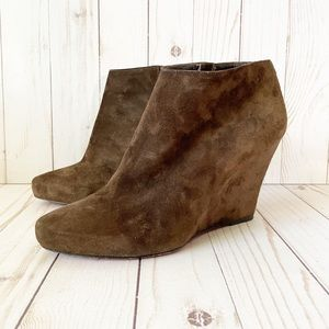 Christian Louboutin Suede Melissa Wedge Booties